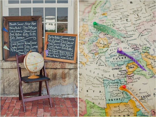 incorporating globes into your wedding from Oh Lovely Day