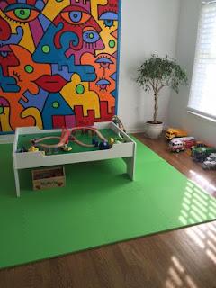 Greatmats green foam mats kids play room