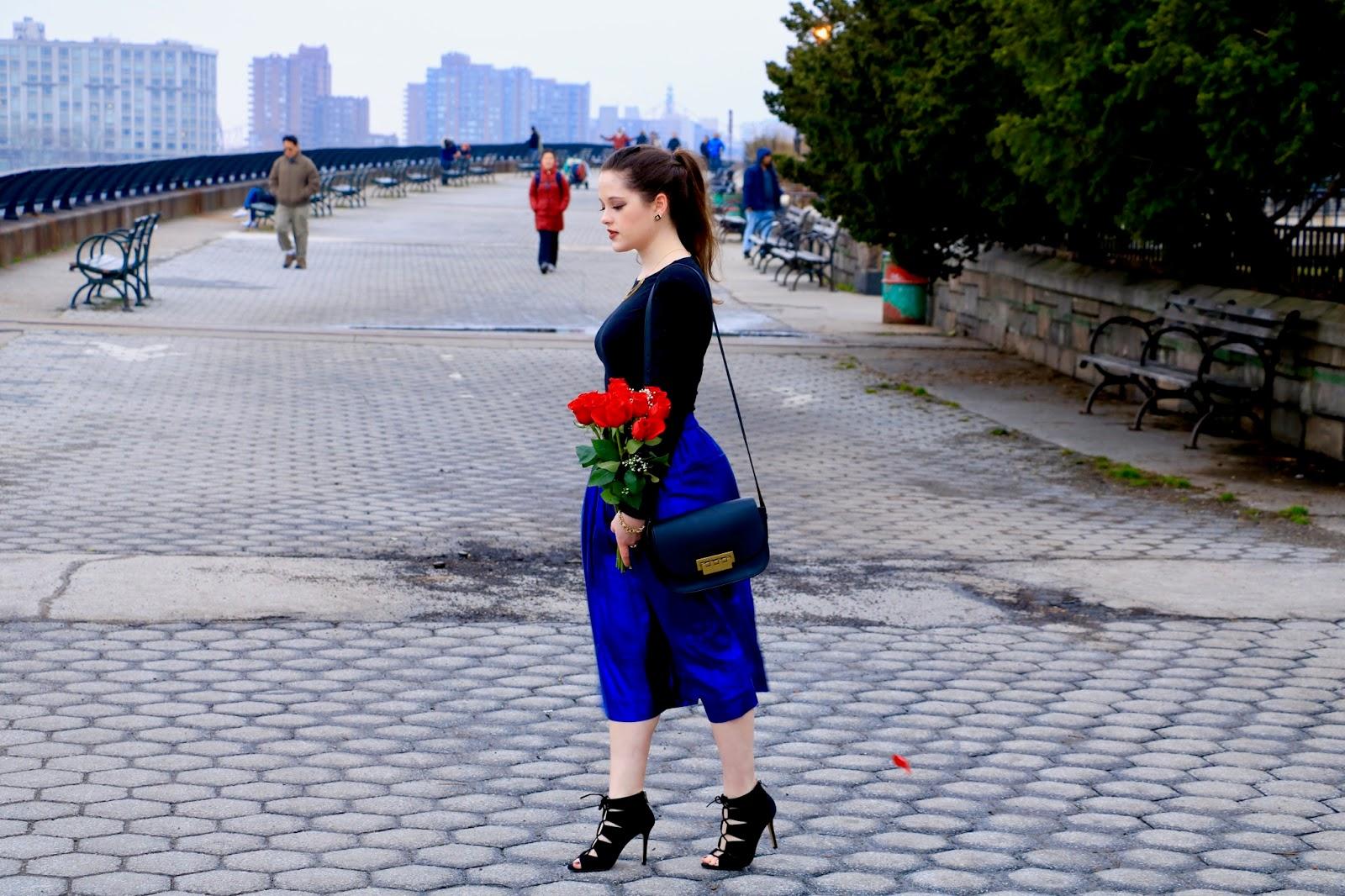 metallic midi skirt fashion blogger