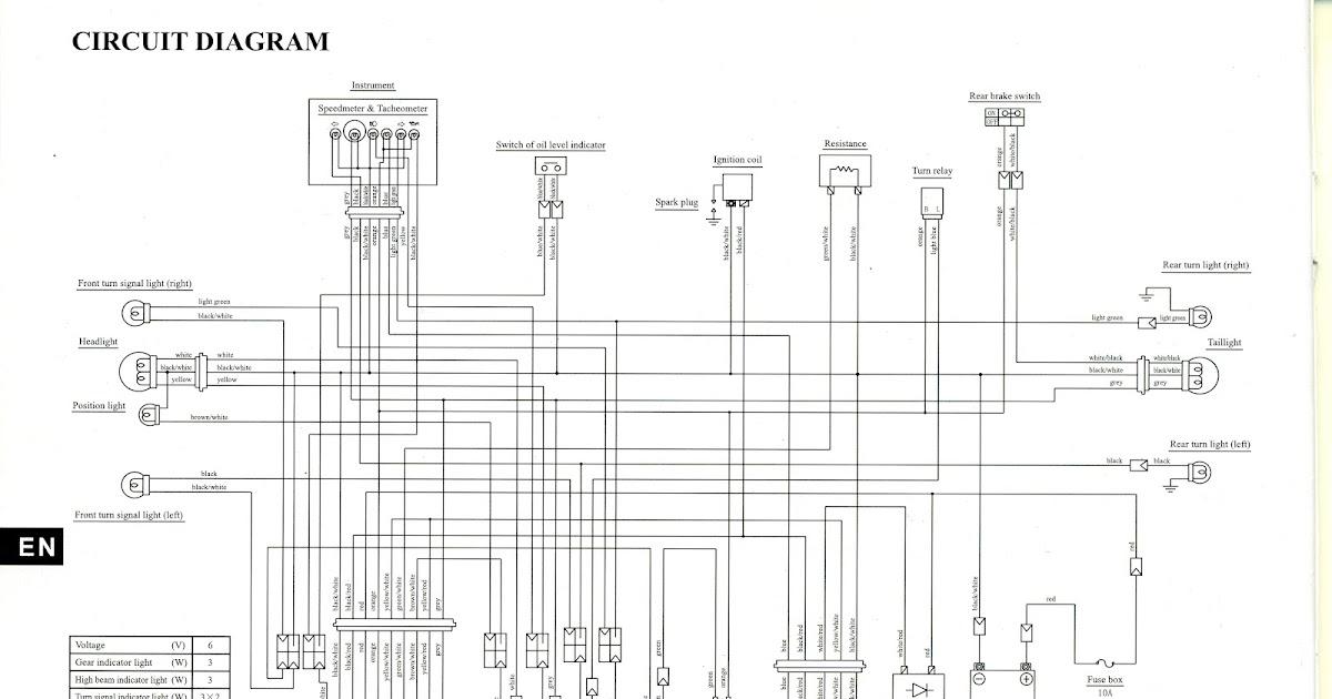 Suzuki AX100 Pasión por 2T: Diagrama electrico del Suzuki
