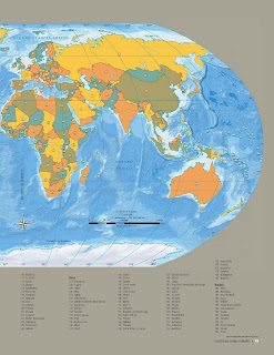 Apoyo Primaria Atlas de Geografía del Mundo 5to. Grado Capítulo 3 Lección 1 División Política Mundial