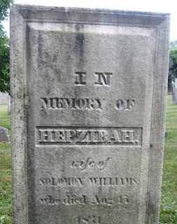 Stone for a woman named Hepzibah