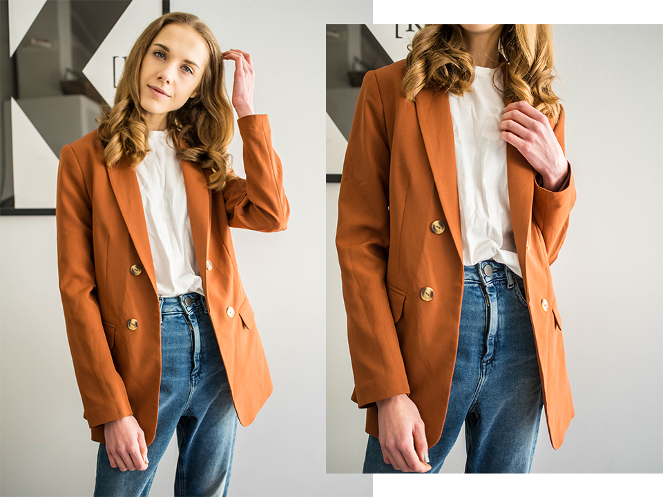 Rust coloured blazer - Ruosteenvärinen bleiseri