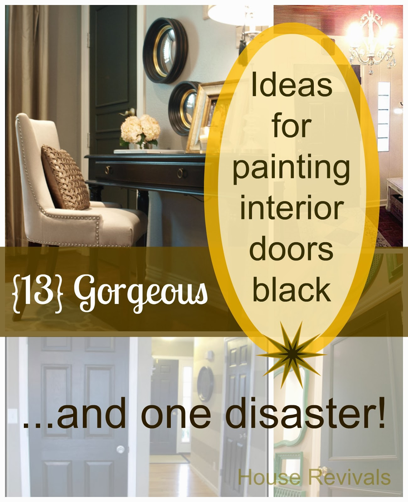 Painting Interior Tips: Painting Doors Black Can Be Just The Right Thing To Add A
