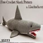 patron gratis tiburon amigurumi, free amiguru pattern shark