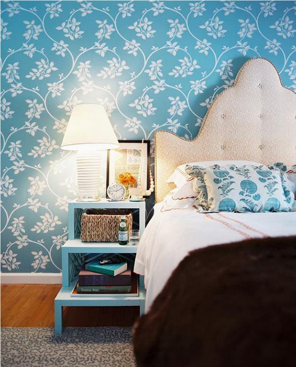 Wallpaper dinding kamar tidur motif bunga | Kumpulan ...