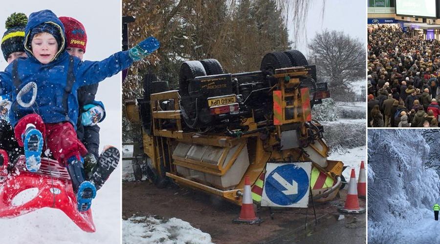 பிரித்தானியாவை ஆட்டி படைக்கும் பனிப் பொழிவு..400 பள்ளிகள் மூடல்: விமான சேவை முடக்கம் UK snow: Power and travel disruption across country