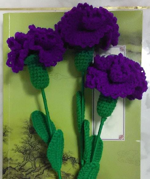 flores-tejidas-claveles-DIY