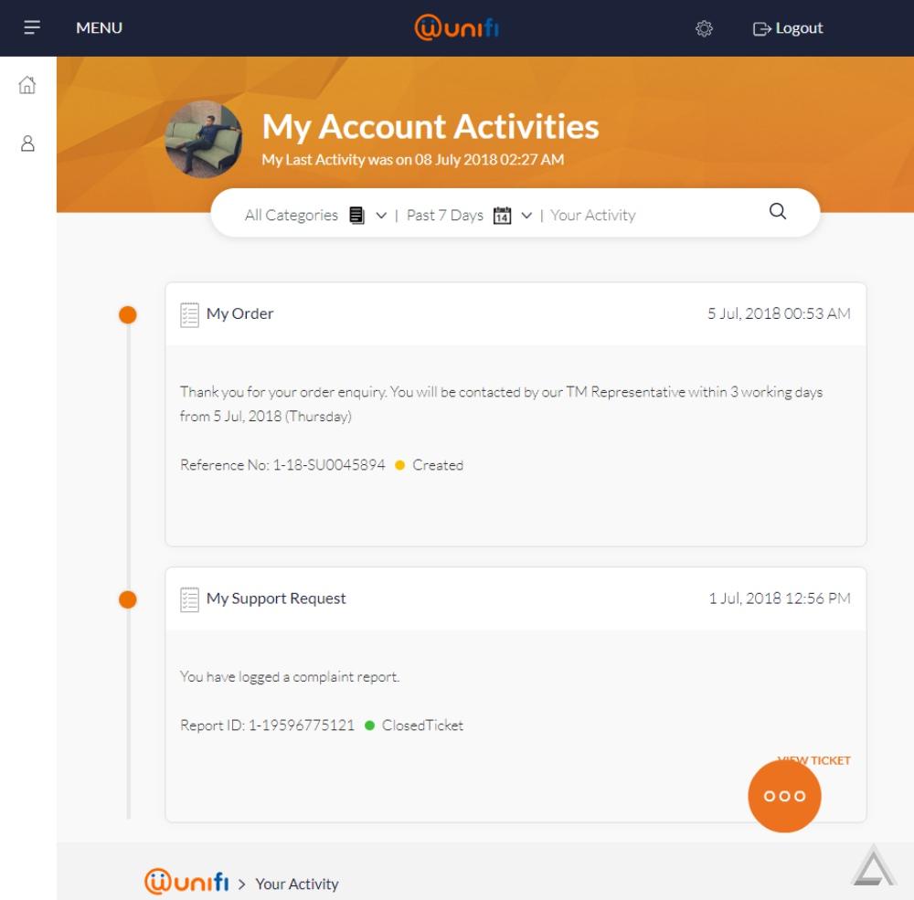 Periksa Bil Bulanan TM Broadband Secara Online Di Laman Web UniFi