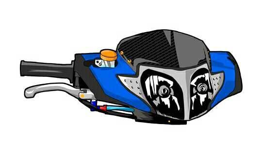 Mentahan Gambar Motor Kartun Drag Racing Terkeren