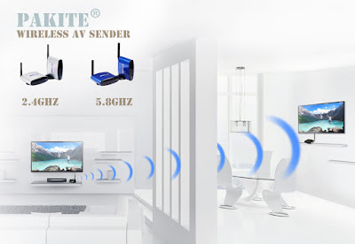 Wireless tv transceiver transmitter and receiver
