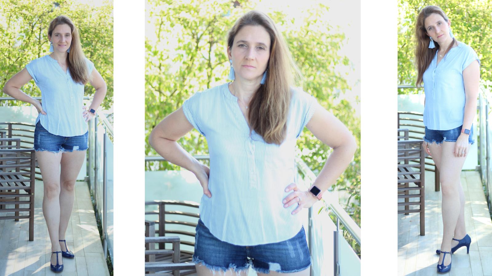 Sommerliche Blusen und Shorts