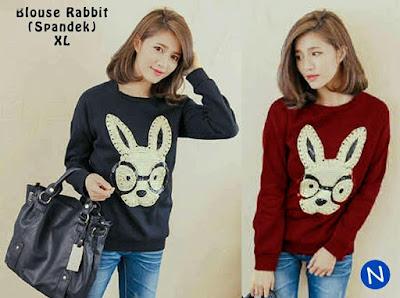 Jual Baju Lengan Panjang Blouse Rabbit - 12533