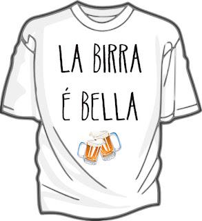"Remera con frase ""La birra é bella"""