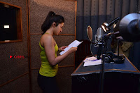Actress Catherine Tresa Pos during Self Dubbing for Gautham Nanda Movie  0036.JPG