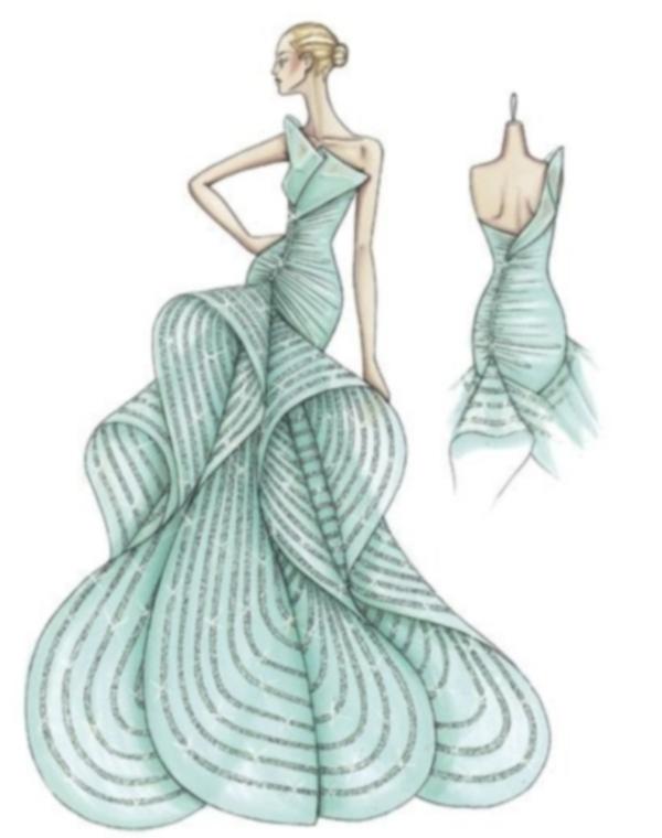 школа рисования эскизов одежды.