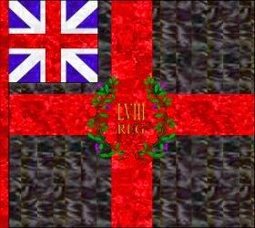 58th Regiment of Foot Regimental Colour