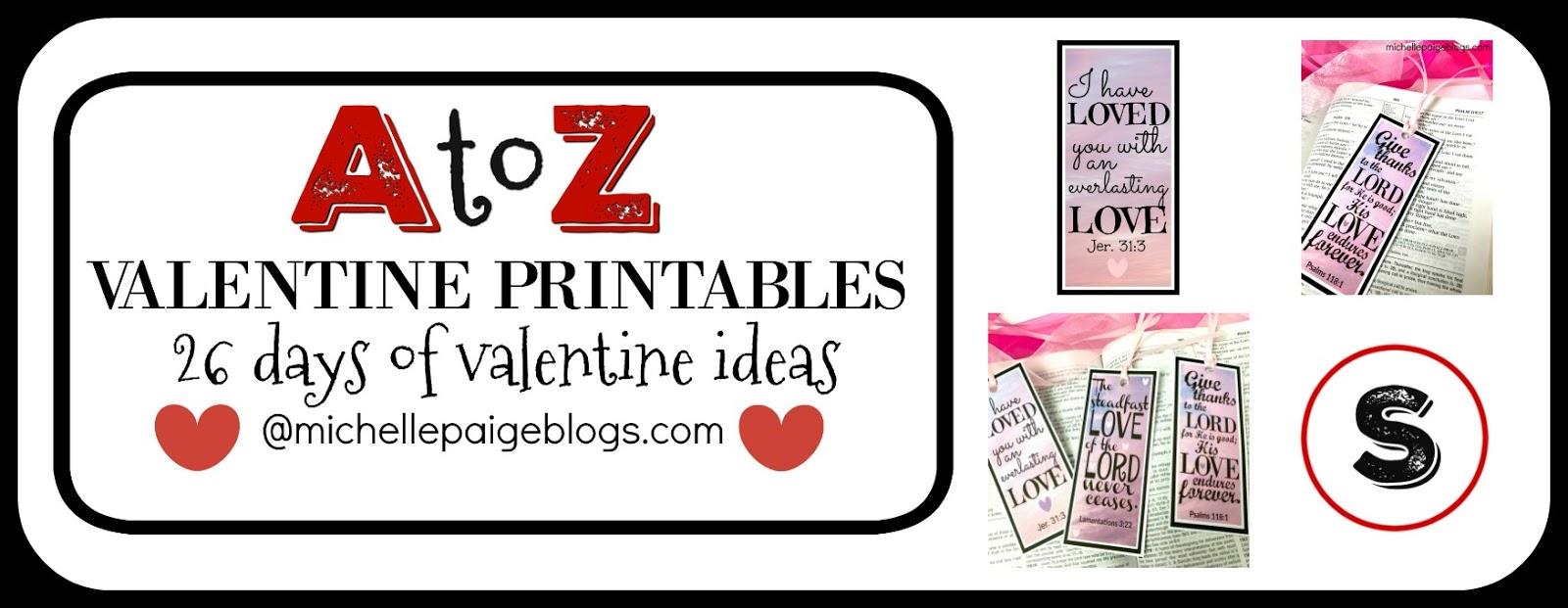 Michelle Paige Blogs 10 Scripture Valentines To Print