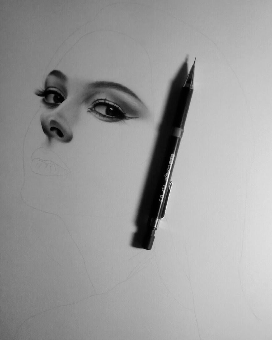02-D-Ponjavić-WIP-Pencil-Portrait-Drawings-www-designstack-co