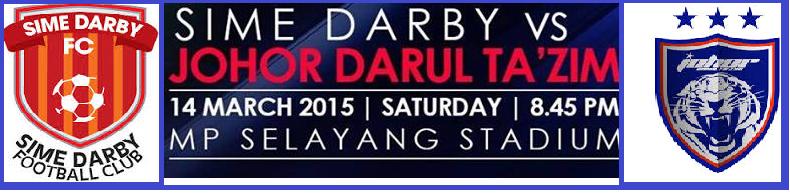 siaran langsung Sime Darby Vs JDT 14 Mac 2015