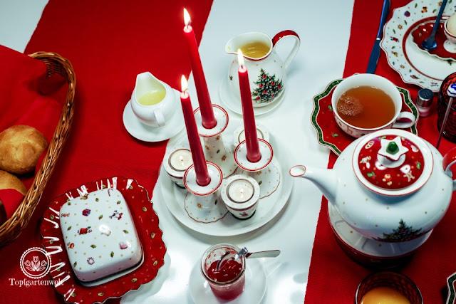 festlich gedeckter Frühstückstisch für den Advent und Weihnachten - Blog Topfgartenwelt