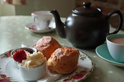 Cornish Cream tea in vintage china