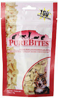 PureBites Freeze-Dried Chicken Treats are low-cal, and cats love them.