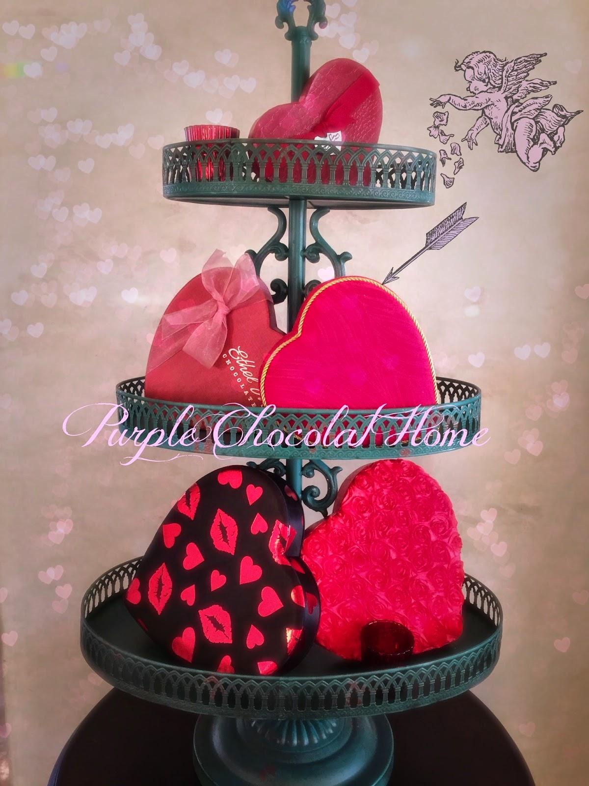 Valentine S Day Decor Purple Chocolat Home