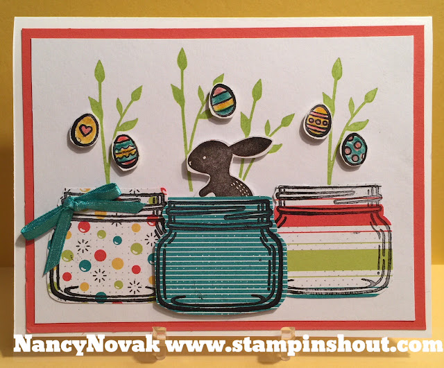 Stampinshout nancyannnovakgmail easter card with jar of love the jar of love stamp set is perfect for all occasions it is very versatile it was my husbands idea to add the bunny in the jar soooo cute enjoy negle Images
