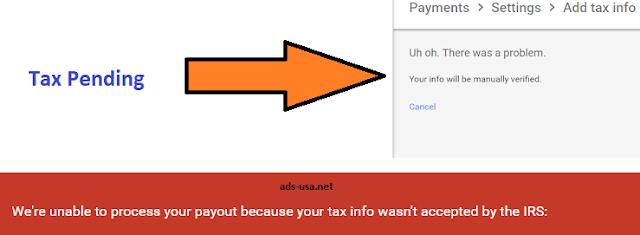 tax pending
