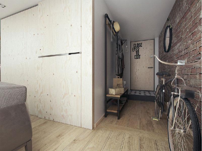 un piccolo loft open space