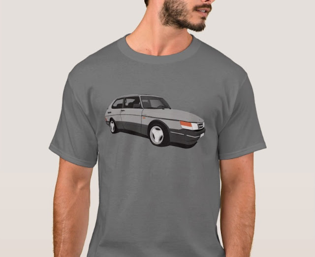 Saab 900 Turbo 16  Aero t-shirt gray