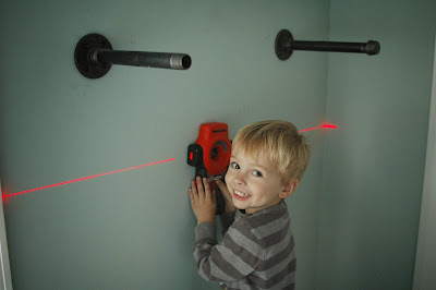 use laser level to level pipes