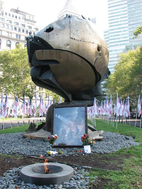 The Sphere by Fritz Koenig, Battery Park, New York