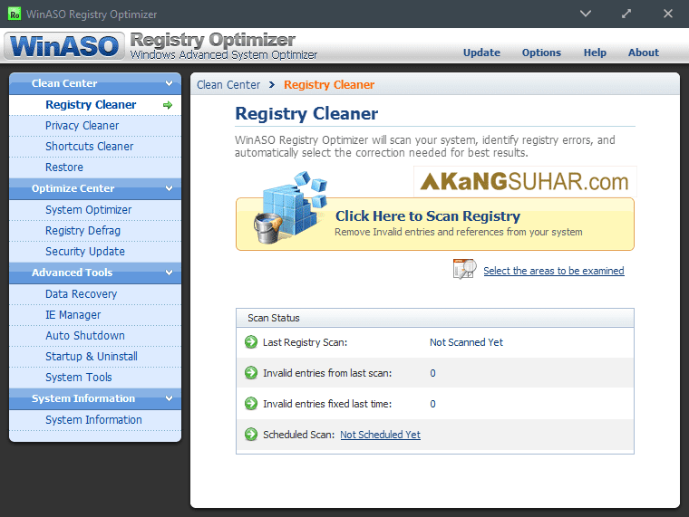 Free download WinASO Registry Optimizer 5 Final latest version plus crack gratis
