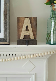 rustic stocking holder with initials