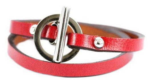 Bracelet cuir couturier Bijoux Chérie