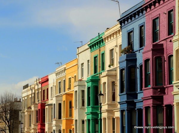 These colorful beauties are located along lancaster road in notting hill