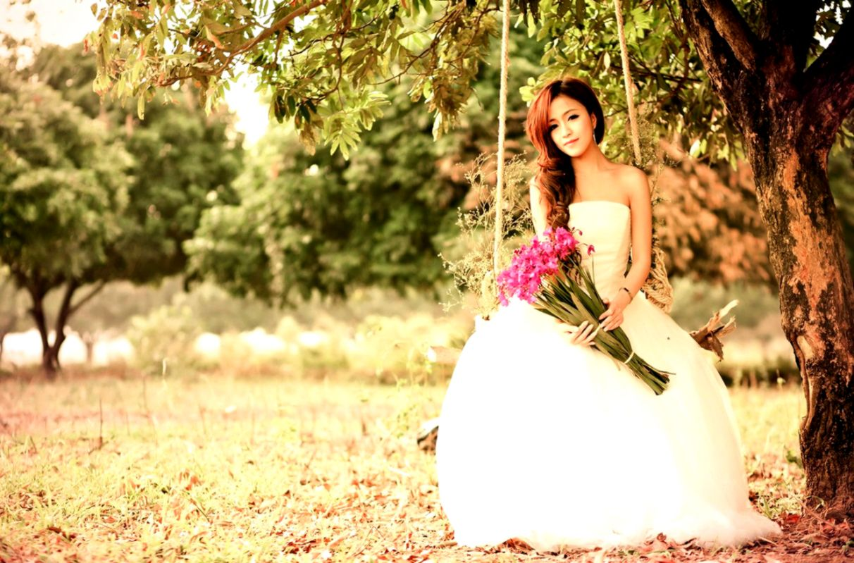 Swing Girl Asian Photography Wallpaper Wallpapers Gallery