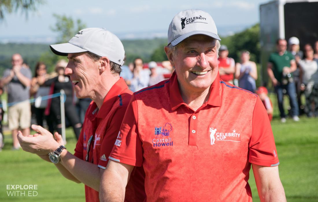 Sir Gareth Edwards and Rob Brydon