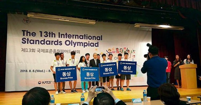 Escolares del COAR Lambayeque ganan medalla de bronce en olimpiada de Corea del Sur