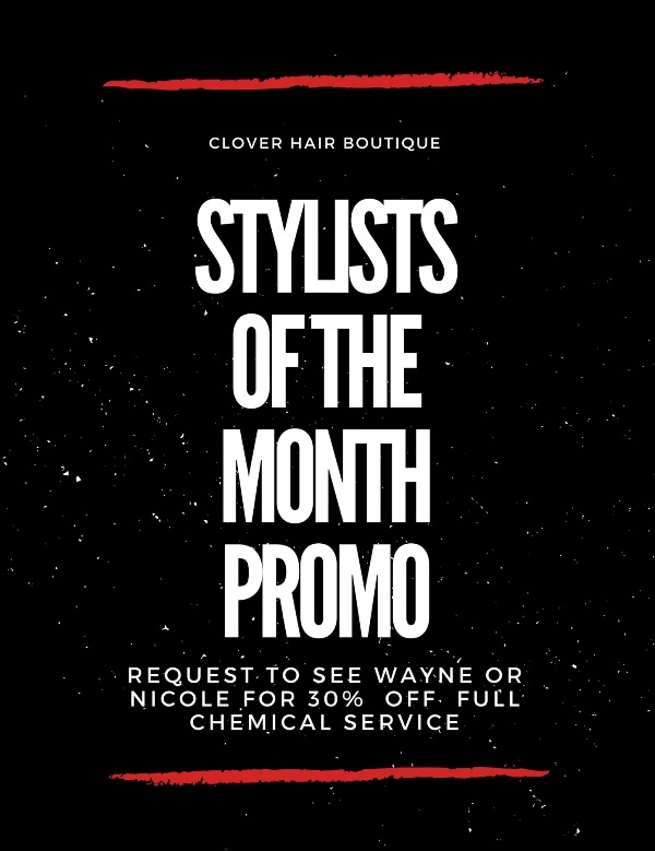 clover hair boutique promotion rebonding balayage ombre