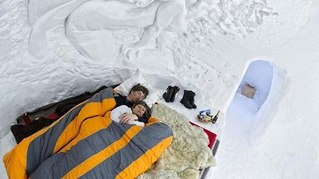 Sensasi Menginap di Hotel Igloo Swiss Layaknya Suku Eskimo