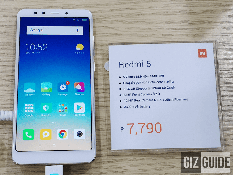 Xiaomi Redmi 5 now official in the Philippines!