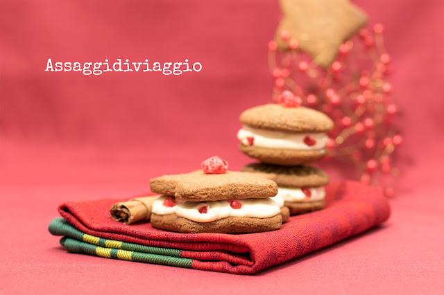 Speculoos con ganache alla vaniglia e ciliegie candite