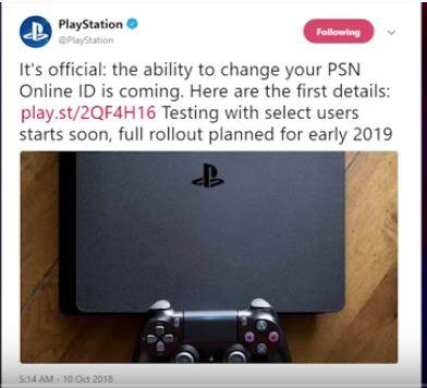 PSN ID, Change Guide
