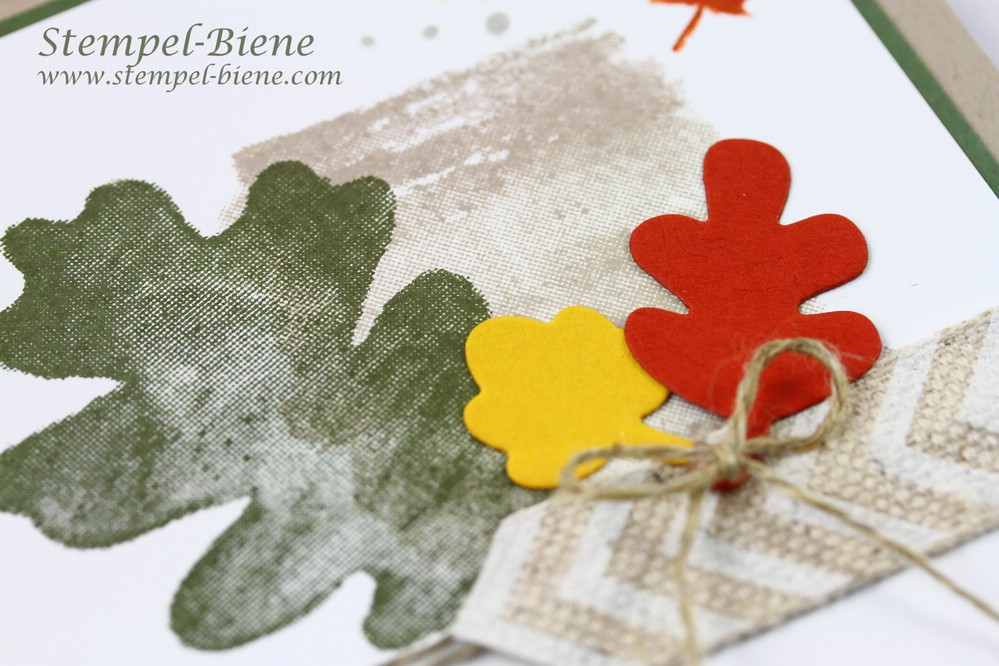Herbstliche Grußkarte, Stampin' up Herstfarben, Stampin Up Herbstworkshop, Stampin Up Fantastische Vier, Stampin Up Herbstkarte