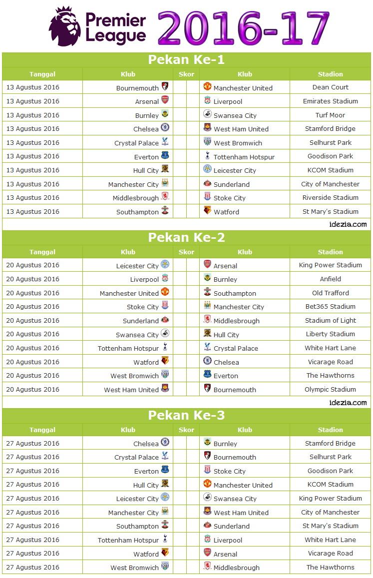 Download kalender jadwal liga inggris 201617 pdf idezia pekan 1 3 stopboris Images