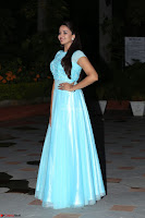 Pujita Ponnada in transparent sky blue dress at Darshakudu pre release ~  Exclusive Celebrities Galleries 074.JPG