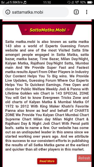 Sipnosis Of Satta Matka King Chart 2019